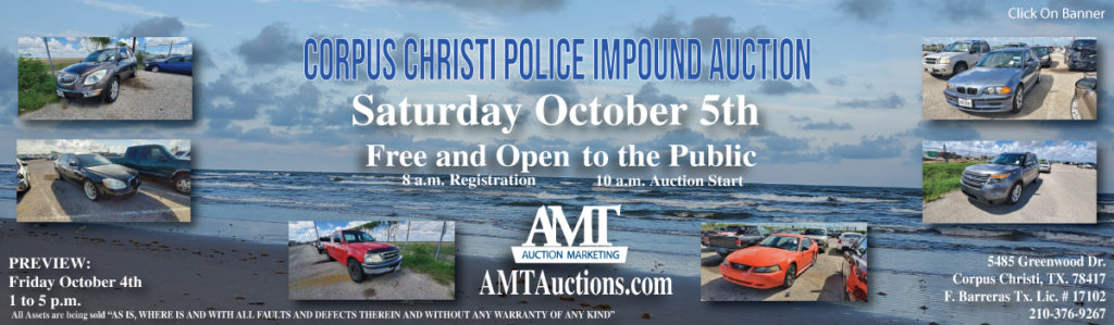 CCPD Impound Auction 10-5-2019